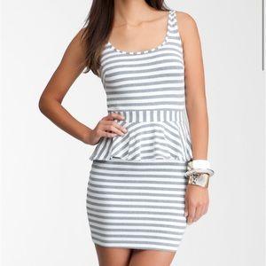 Bebe Striped Peplum Dress